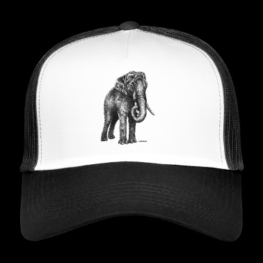Scribbled Elephant - Trucker Cap