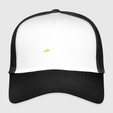 Eat Sleep Ride Repeat Horse - Trucker Cap
