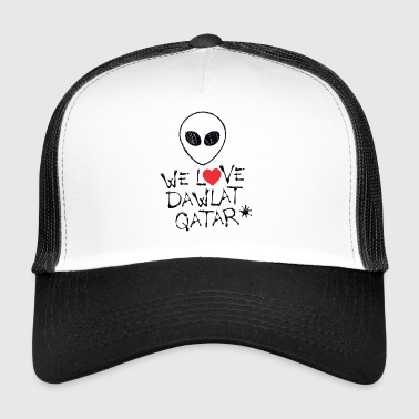 WE LOVE Dawlat Qaṭar (Qatar) - Alien - Trucker Cap