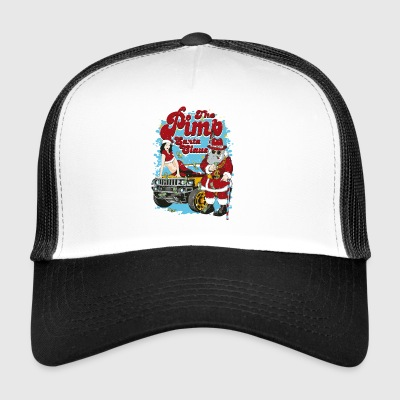 PIMP SANTA- Match Santa Claus Pin-Up Shirt - Trucker Cap