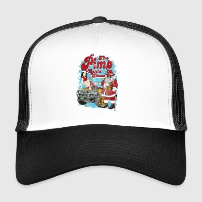 Le jeu PIMP SANTA Père Noël Pin up shirt - Trucker Cap