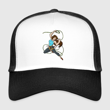 Climbing, lasso swinging super woman - Trucker Cap