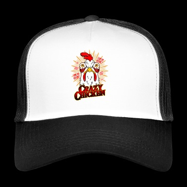 CRAZY CHICKEN - Funny chicken gift motif - Trucker Cap