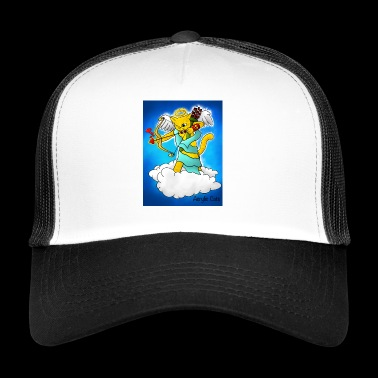 Valentine's Day Ginger Yellow Cupid Cat - Trucker Cap