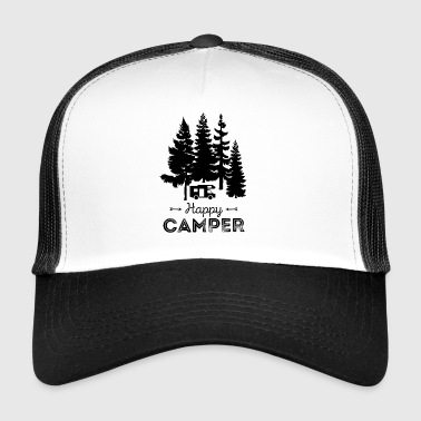 Happy Camper Camping Holiday Nature Freedom Nature - Trucker Cap