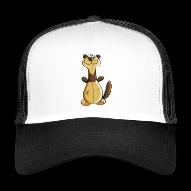 Naughty Ferret Comic - Cadeau - Polecat - Trucker Cap