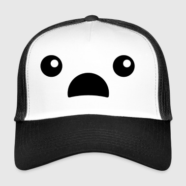 EMOJI - Erstaunter Smilie/Teddy - Trucker Cap