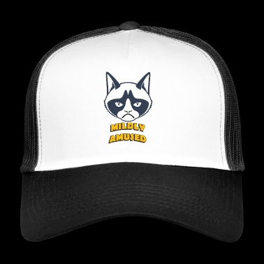 grumpy cat mildly amused coloful - Trucker Cap