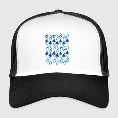 abstract blue drops - Trucker Cap