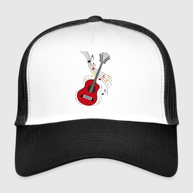 red guitar - Trucker Cap