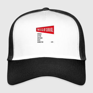 5cs of Survival Red - Trucker Cap