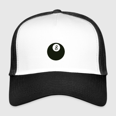 Billiard ball 8 - Trucker Cap