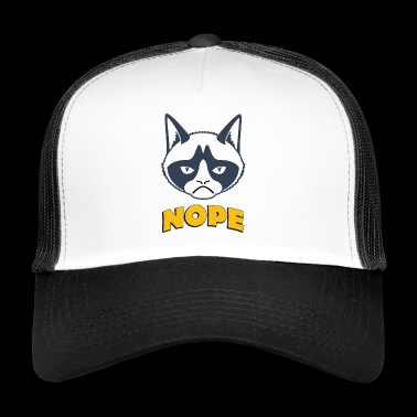 Les mots grincheux du chat nope Grumpy cat nope - Trucker Cap
