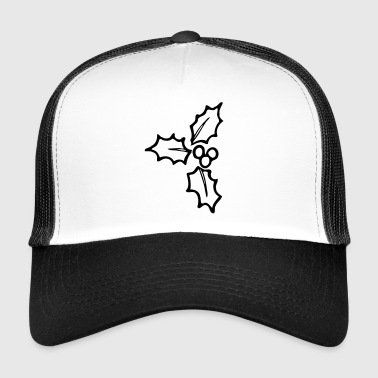 Holly monochrome Christmas ornament - Trucker Cap