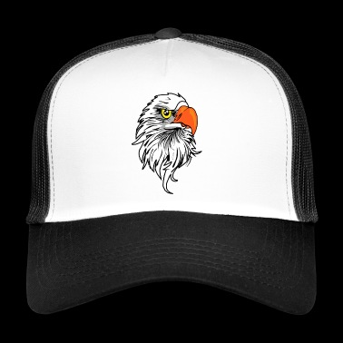 Eagle head eagle gift - Trucker Cap