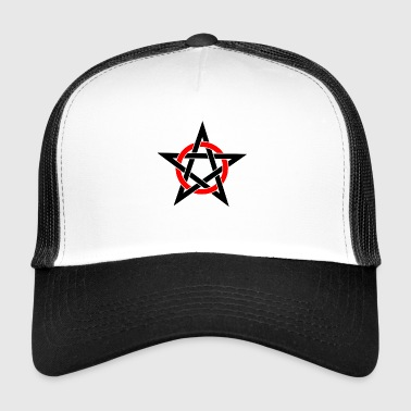 Pentagram Drudenfuß Witch Pagan Witch Esoteric - Trucker Cap