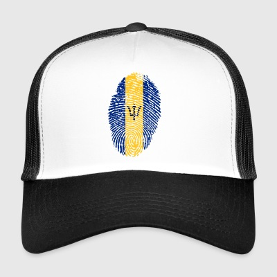 BARBADOS FINGERABDRUCK T-SHIRT. - Trucker Cap