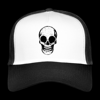 black and white death head - Trucker Cap