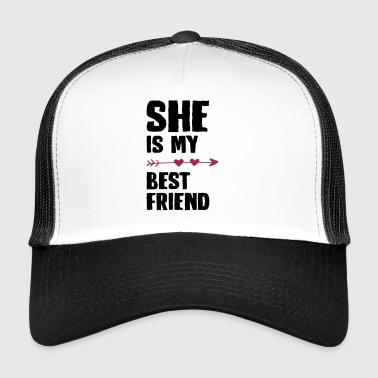 She is my best friend Left - Trucker Cap