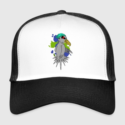 Bird with headphones - Trucker Cap