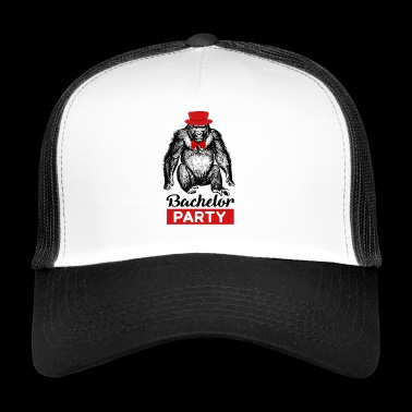 Bachelor Party Monkey Wedding Bachelorette Party - Trucker Cap