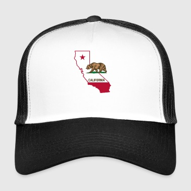 Californië met beer - Trucker Cap