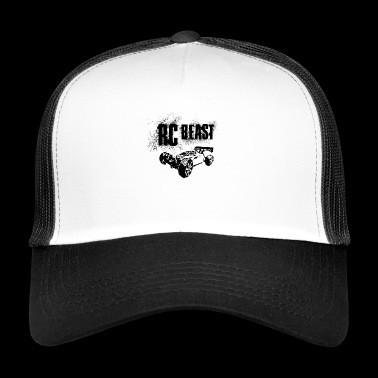 RC Car Racing On Offroader BEAST BLACK - Trucker Cap