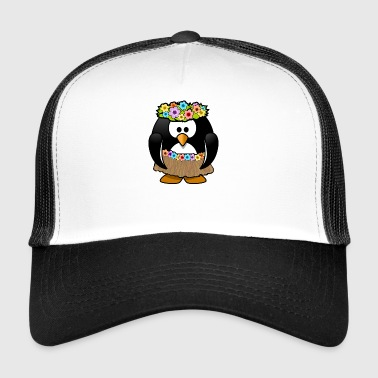 Hawaii Penguin en costume d'été - Trucker Cap