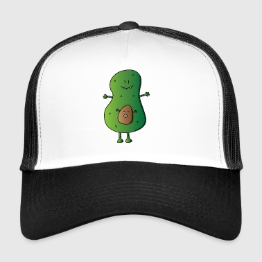 avocado veggie fruits obst salad salat - Trucker Cap