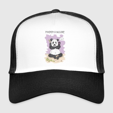Panda Pandidha Moore lilac background - Trucker Cap
