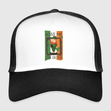 St. Patricks Day Kobold - I'm irish - kiss me - Trucker Cap