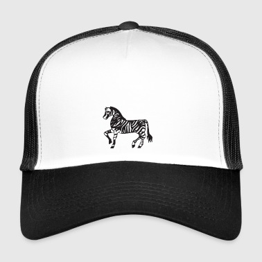 Zebra Illustratie - Trucker Cap