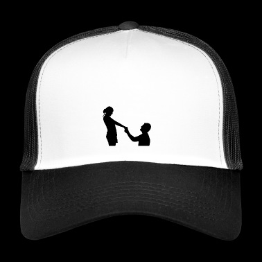 proposal of marriage - Trucker Cap