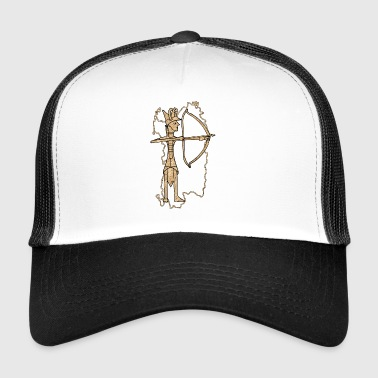 Bronze archer with cork print - Trucker Cap