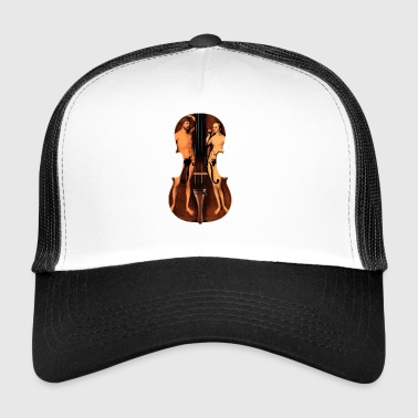 violin adamo and eva - Trucker Cap