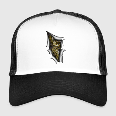 Steampunk Machine slits växlar rörelse - Trucker Cap