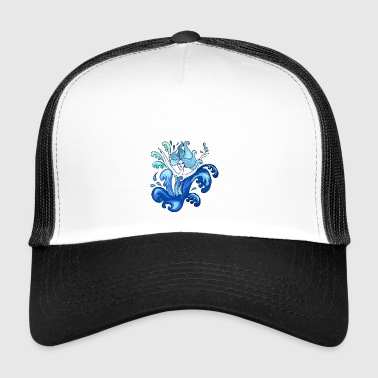 Illustration sirène - Trucker Cap