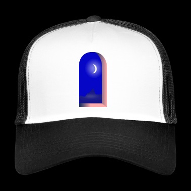 window on the moon - Trucker Cap