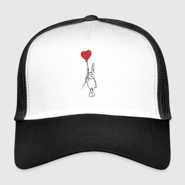 The flying white rabbit - Trucker Cap
