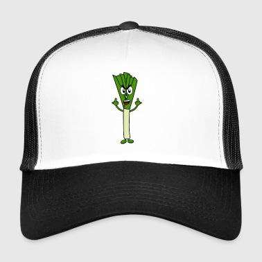 Leeks with middle finger Stinky fingers - Trucker Cap