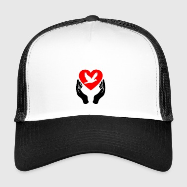 Peace Dove Heart - Trucker Cap