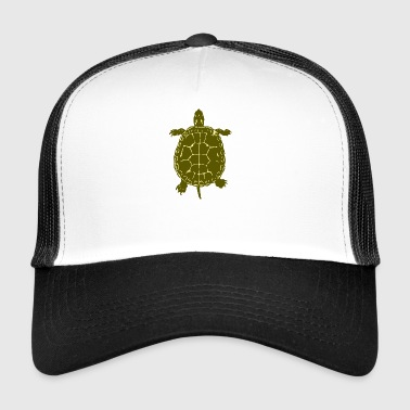Turtle Illustration Schildkroete Reptil - Trucker Cap