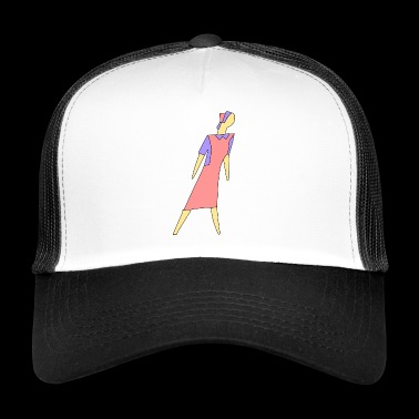 cleaning cleaning cleaning woman broom wischmop56 - Trucker Cap