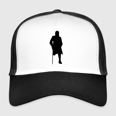Pirate Silhouette footed Cadeau - Trucker Cap