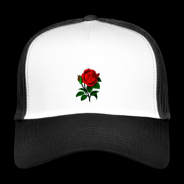 Rose rouge - Trucker Cap