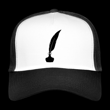 Pen / Pen / Ink / Feather - Trucker Cap