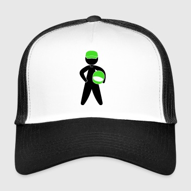 A Racer With Helmet - Trucker Cap