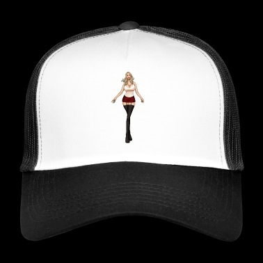 Hot Blonde Girl - Trucker Cap