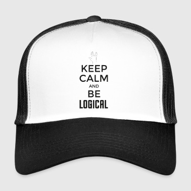 Keep Calm and be logical (dark) - Trucker Cap