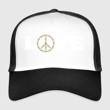 Peace - Love - lahja - Trucker Cap
